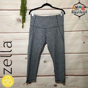 Zella Gray High Waist Crop Leggings L